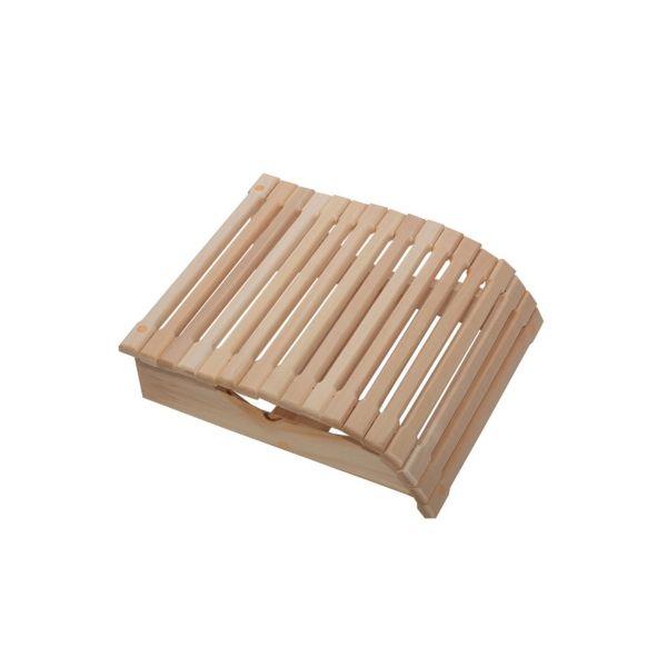 Sauna-Kopfstütze mit Federdraht