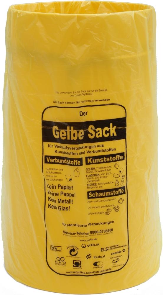 gelbe sacktonne mit deckel f r gelben sack m llsackst nder wertstoffbeh lter manfred saunaladen. Black Bedroom Furniture Sets. Home Design Ideas