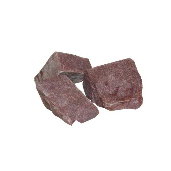 20 kg Original finnischer Roter Quarz Saunastein 5-10 cm von ENS